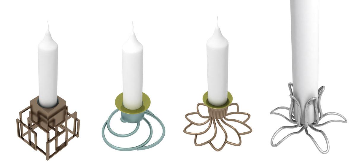 Design av ljushållare